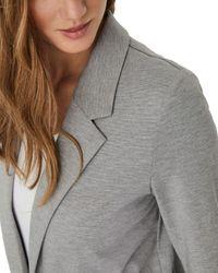Vero Moda Gray Longline Blazer
