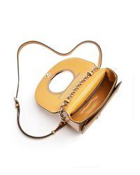 Ferragamo - Metallic Medium Vela Calfskin Shoulder Bag - Lyst