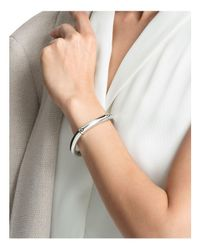 John Hardy - Metallic Sterling Silver Bamboo Curved Hinged Bangle - Lyst