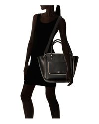 Ivanka Trump Black Tribeca Solutions Leather Satchel