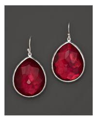 Ippolita | Red Sterling Silver Wonderland Teardrop Earrings In Raspberry Doublet | Lyst