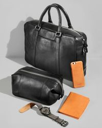Shinola Brown Slim Briefcase for men