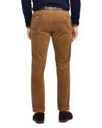 Polo Ralph Lauren - Brown Stretch Slim Fit Corduroy Pants for Men - Lyst