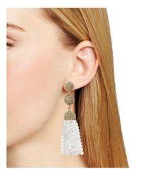 BaubleBar - White Tinsley Tassel Drop Earrings - Lyst