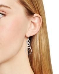 Aqua - Metallic Linked Circle Drop Earrings - Lyst
