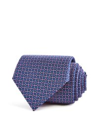 Turnbull & Asser - Blue Geometric Floral Squares Neat Classic Tie for Men - Lyst