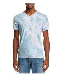 Sol Angeles - Blue Whirlpool Print V-neck Tee for Men - Lyst