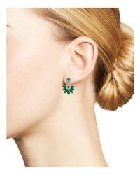 Bloomingdale's - Multicolor Emerald Marquis & Diamond Fan Drop Earrings In 14k White Gold - Lyst