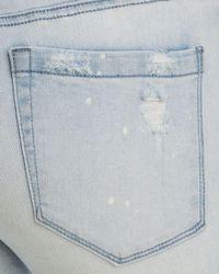 Blank NYC Splatter Frayed Skinny Jeans In Blue