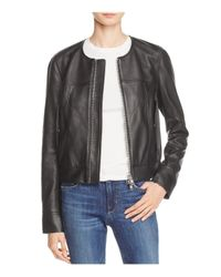 Theory Black Onorelle Leather Moto Jacket