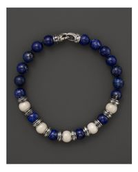 Scott Kay Blue Bone and Lapis Beaded Bracelet for men
