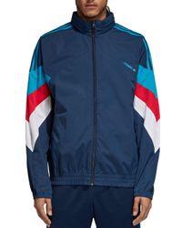 Adidas Blue Palmestone Techno Track Jacket for men