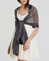 Echo Metallic Silk Chiffon Scarf
