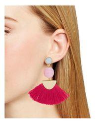 BaubleBar - Pink Mamba Drop Earrings - Lyst