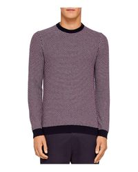 Ted Baker - Purple Coftini Triple Stitch Sweater for Men - Lyst