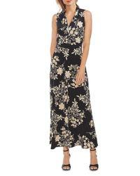 Vince Camuto Black Floral Getaway Maxi Dress