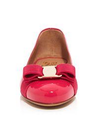 Ferragamo Pink Ballet Flats - Varina