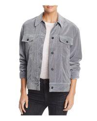 Rag & Bone - Gray Velvet Jacket - Lyst