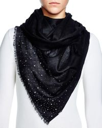 Fraas Gray Sparkle Wrap Scarf