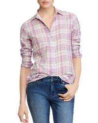 Ralph Lauren Purple Lauren Plaid Shirt
