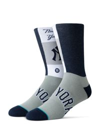 Stance Blue Yankees Pop Fly Socks for men