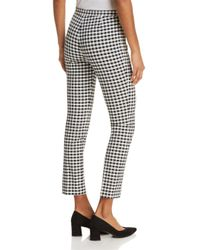 Theory Black Classic Skinny Gingham Ankle Pants