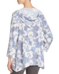 Nally & Millie - Blue Tie-dye Print Hooded Pullover - Lyst