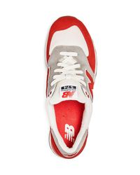 New Balance - Red Men's 574 Retro Lace Up Sneakers for Men - Lyst