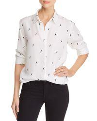 Rails White Taylor Lightning Button-down Shirt