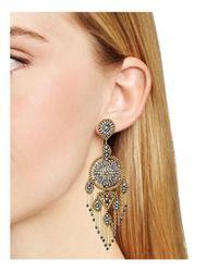 Miguel Ases - Multicolor Beaded Chandelier Drop Earrings - Lyst