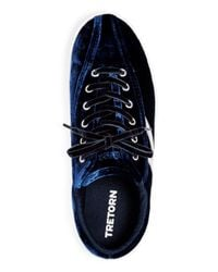 Tretorn - Blue Women's Nylite Plus Velvet Lace Up Sneakers - Lyst