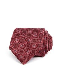 Canali - Red Large Medallion Classic Tie for Men - Lyst