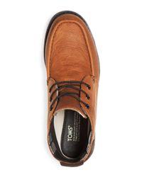 TOMS - Brown Men's Waterproof Leather Chukka Boots for Men - Lyst
