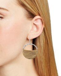 Robert Lee Morris Metallic Wire Wrap Hoop Earrings