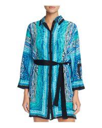 Gottex | Blue Snake Charmer Silk Shirt Dress Cover-up | Lyst