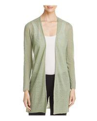 Eileen Fisher | Green Lightweight Textured Cardigan | Lyst