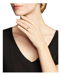 Zoe Chicco Pink 14k Rose Gold Black Pave Diamond Small V Ring