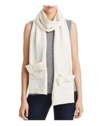 Kate Spade | Natural Bow Scarf | Lyst