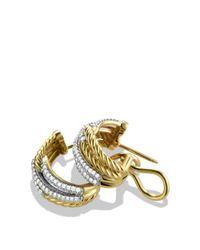 David Yurman Yellow Labyrinth Double-loop Earrings With Diamonds