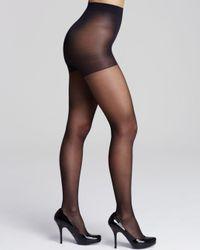 Calvin Klein Black Active Sheer Control Top Tights