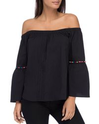 B Collection By Bobeau - Black Lidia Off-the-shoulder Top - Lyst