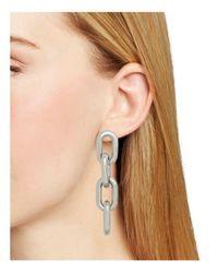 Aqua - Metallic Nikita Chain Link Earrings - Lyst