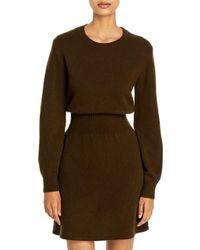 Theory Green Wool & Cashmere Sweater Dress