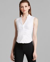 Armani White Collezioni Top - Sleeveless V Neck
