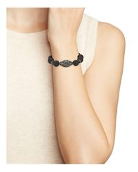 Aqua - Multicolor Stretch Ball Bracelet - Lyst