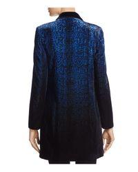 T Tahari - Blue Dickson Snake Print Velvet Jacket - Lyst