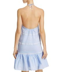 6 Shore Road By Pooja Blue Garden Light Dress Swim Cover-up
