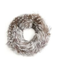 Badgley Mischka Blue Fox Fur Infinity Scarf