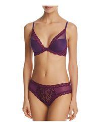 Natori Purple Plunge Bra - Feathers Contour #730023