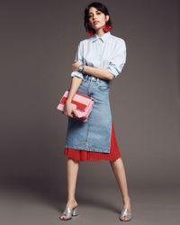 Levi's - Slit Denim Skirt In Blue Waves - Lyst